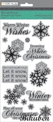 TPC Studio - Winter Whites - Cling Stamps