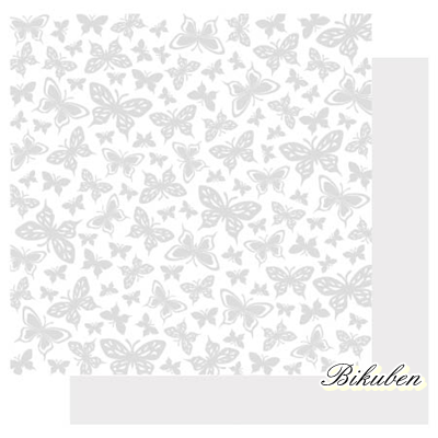 Best Creation: Basic Glitter- Butterfly Paper    12 x 12""