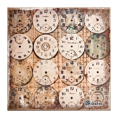 Tim Holtz: Burlap Panel-WATCHMAKER
