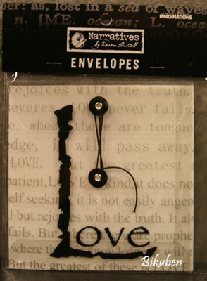 Creative Imaginations: Envelope - Love (small)