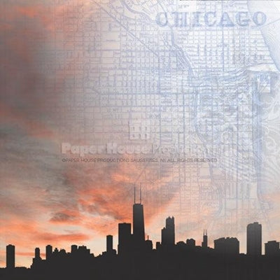 Paperhouse: Chicago Skyline     12 x 12""