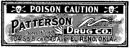 Tim Holtz Collection: Poison Label - Wood mount Stamp
