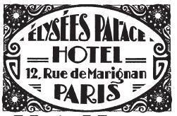 Tim Holtz Collection: Paris Hotel - Wood mount Stamp