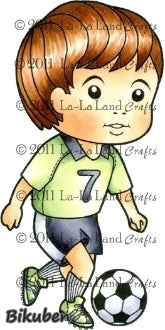 La-La Land Crafts - Soccer Luka - Red Rubberstamp