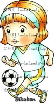 La-La Land Crafts - Soccer Marci - Red Rubberstamp