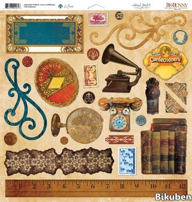 BoBunny - Weekend Market Chipboard 12x12""