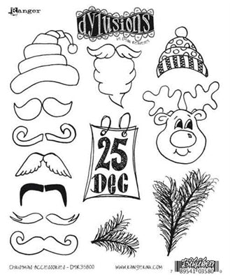 Dylusions - Christmas Accessories - Stamps