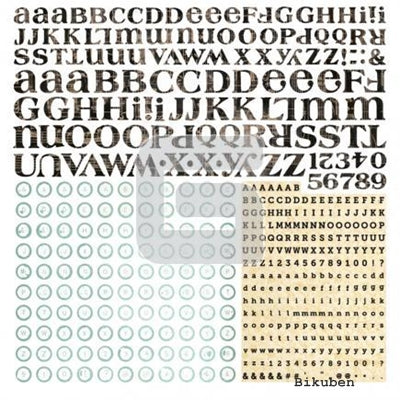 Basic Grey - Serenade - Alphabet Stickers 12x12""