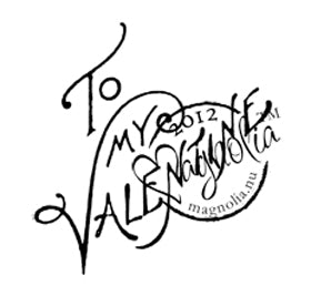 Magnolia: With Love - To my valentine - stamp