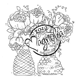 Magnolia: With Love - Bouquets with love - stamp