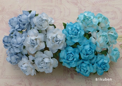 Wild Orchid - Cottage Roses - Mixed Blues