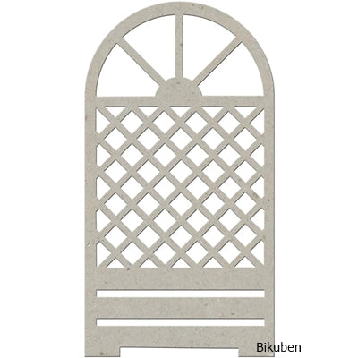 FabScraps - Chipboard - Trellis Door Diecut