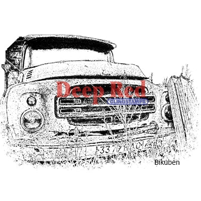 Deep Red Stamps - Rusty Truck - Cling Stamp