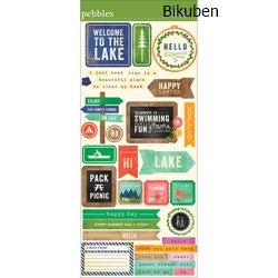 American Crafts - Lakeside - Phrases Stickers