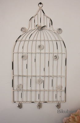 Melissa Frances - Birdcage Memo Holder - Small White