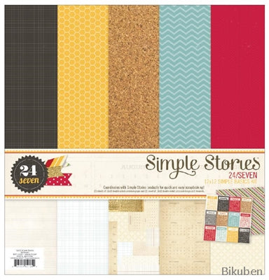 "Simple Stories - 24/7 Simple Basic 12x12"" Paper Kit"