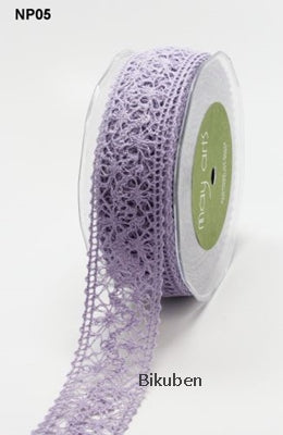 May Arts: Crochet Lace Ribbon -  LAVENDER  (metervis)