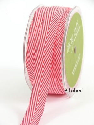 May Arts - Chevron Stripes Ribbon - Red - Metersvis