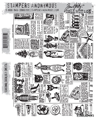 Tim Holtz Collection - Sesonal Catalog 1 - Stamps