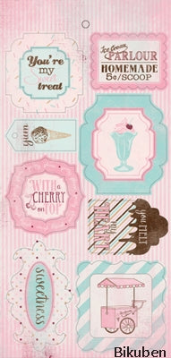 "Authentique - Sweetness 6x12"" Die Cut Components 12x12"""