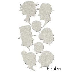 FabScraps - Chipboard - Silhouettes - Diecuts