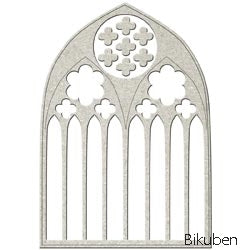 FabScraps - Chipboard - Cathedral Window - Diecut
