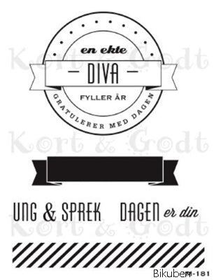 Kort & Godt - Clearstamps Medium Plate - En ekte diva
