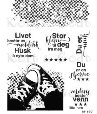 Kort & Godt - Clearstamps Medium Plate - Converse