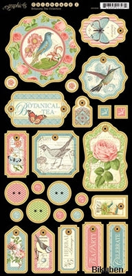 Graphic45 - Botanical Tea - Chipboard 1