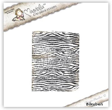 Magnolia - Animal of the Year - Zebra Pattern Background Stamp