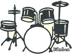 Tessler Stamps & Dies - Drum Set dies