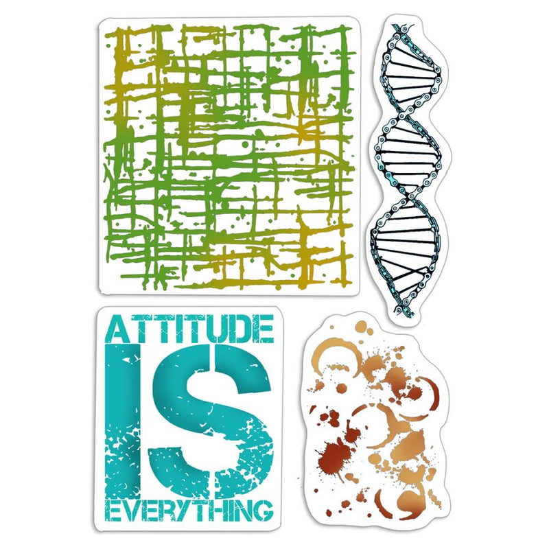 Ciao Bella - Clear Stamps - Bad Girls - Attitude is Everything