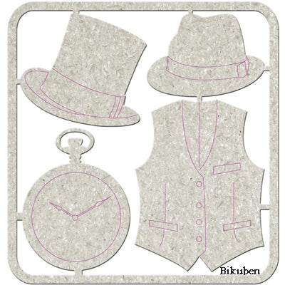 FabScraps - Chipboard - Hats & Clocks