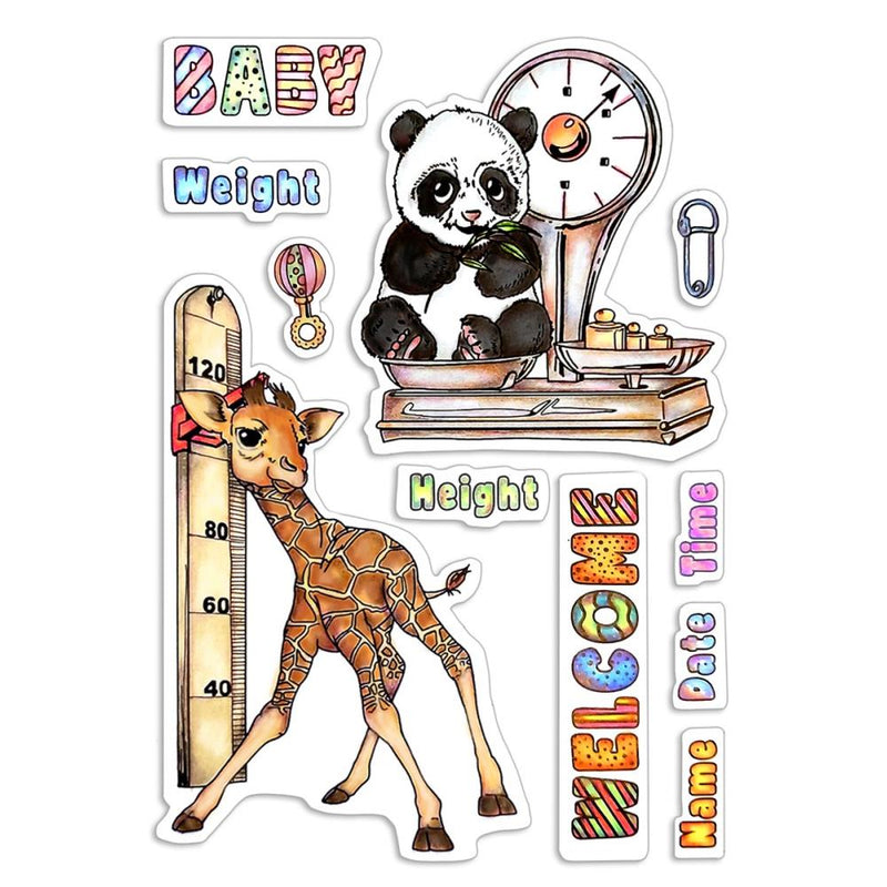 Ciao Bella - Clear Stamps - My First Year -  Baby Heigt & Weight
