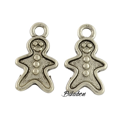 Charms - Antique Silver - Gingerbreadman