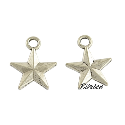 Charms - Antique Silver - Stars
