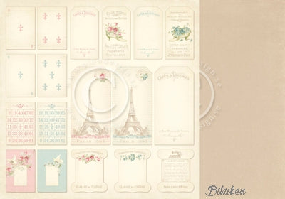 Pion Design - Paris Flea Market - Tags 12x12""