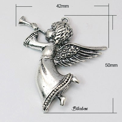 Charms - Antique Silver - Angel with Trumpet