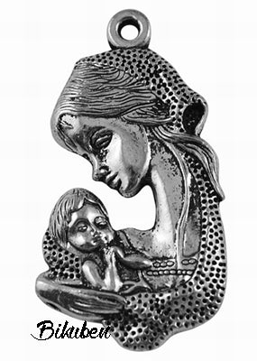 Charms - Antique Silver - Mother and Child