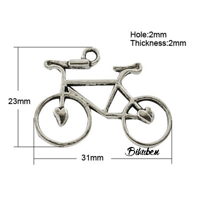 Charms - Antique Silver - Bicycle - sykkel