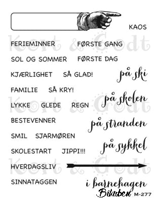 Kort & Godt - Clearstamps  Medium Plate - Pil