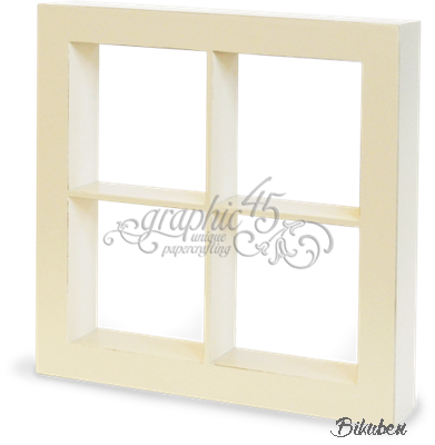 Graphic45 - Window Shadow Box - Ivory