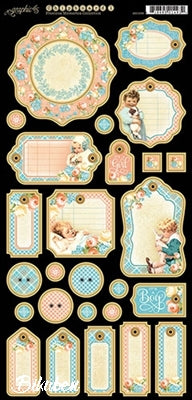 Graphic45 - Precious Memories - Journaling Chipboard