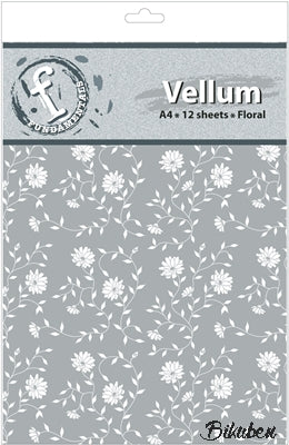 Ruby Rock-it - Vellum - A4 - Floral