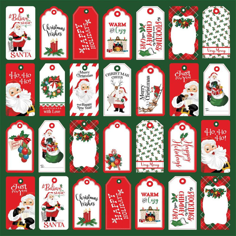 Carta Bella - Dear Santa - Tags - 12x12""