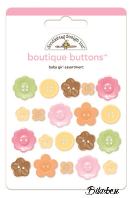 Doodlebug - Boutique Buttons - Baby Girl