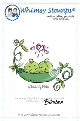 Whimsy Stamps - Cling Mount - Sweet Peas in a Pod