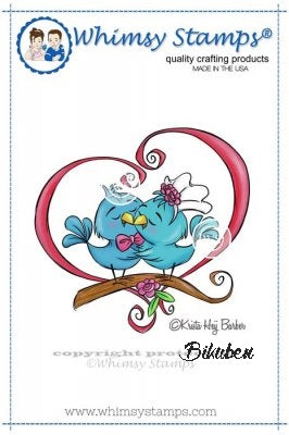 Whimsy Stamps - Cling Mount - Love Birds
