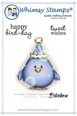 Whimsy Stamps - Cling Mount - Happy Bird-Day