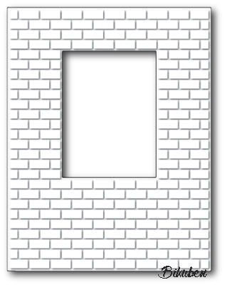 Poppystamps - Dies - Brick Window Wall